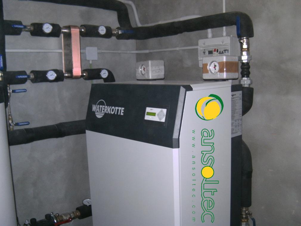 Instalaci n geot rmica con captaci n vertical para acs y - Suelo radiante con bomba de calor ...