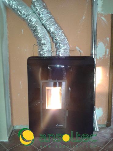 Estufa ibiza con tubos de canalizaci n - Tubos estufa pellets ...